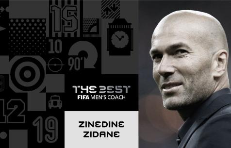 Зидан признан лучшим тренером 2017 года по версии FIFA