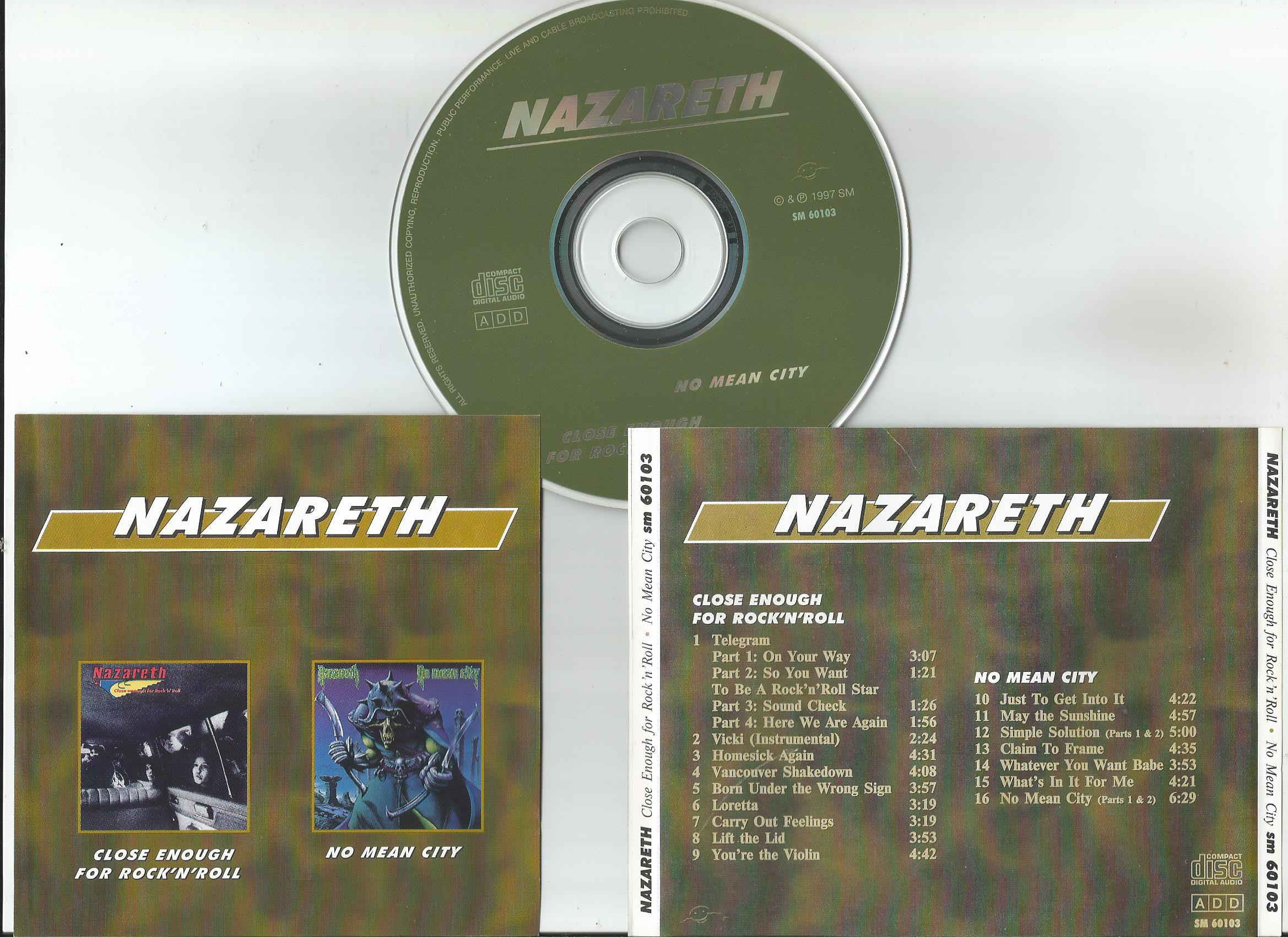 Nazareth Close Enough For Rock N Roll Records Lps