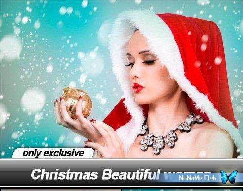 Растровый клипарт - Fotolia - Christmas Beautiful woman [JPG]