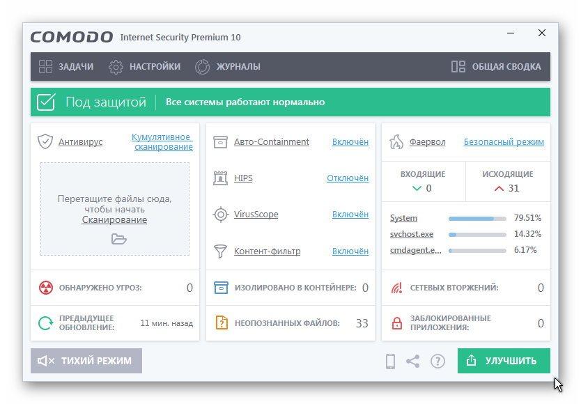 Comodo Internet Security Premium 10.1.0.6474 Final / ~multi-rus~