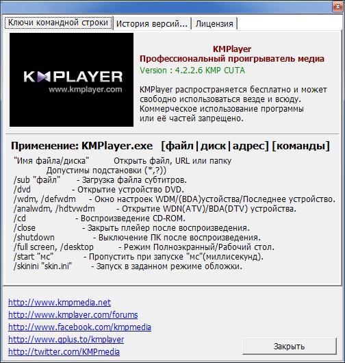 The KMPlayer  4.2.2.6 / repack by cuta  / build 1 / ~multi-rus~