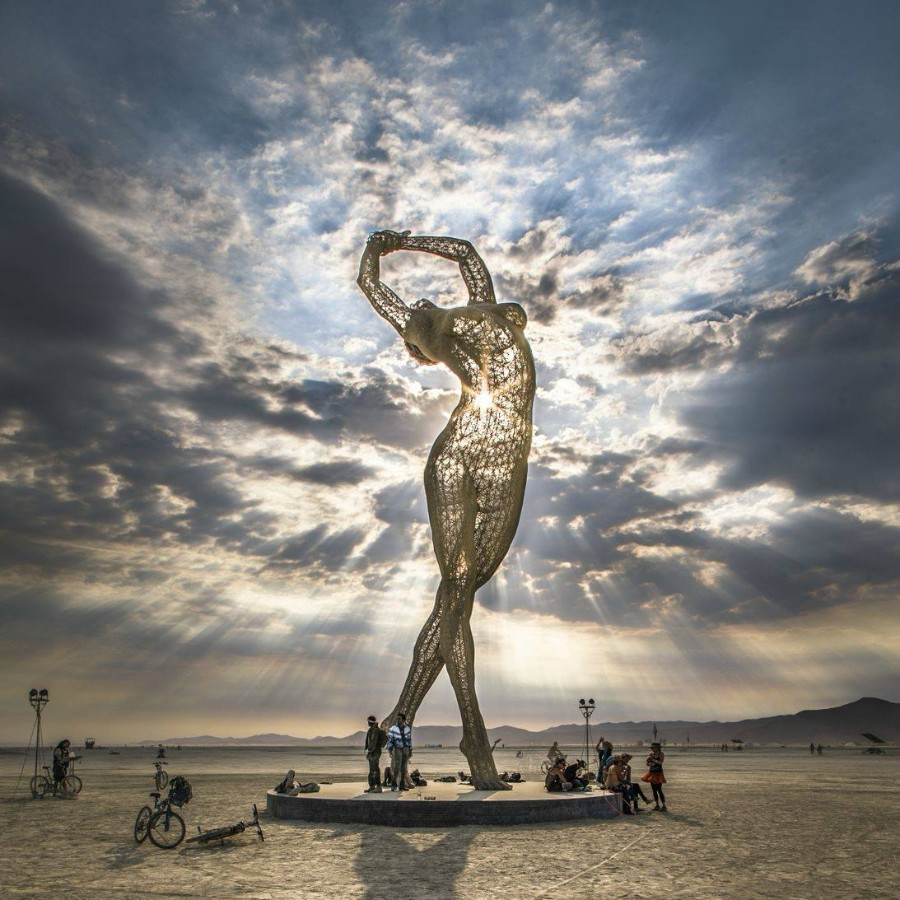 Статуя с фестиваля Burning Man