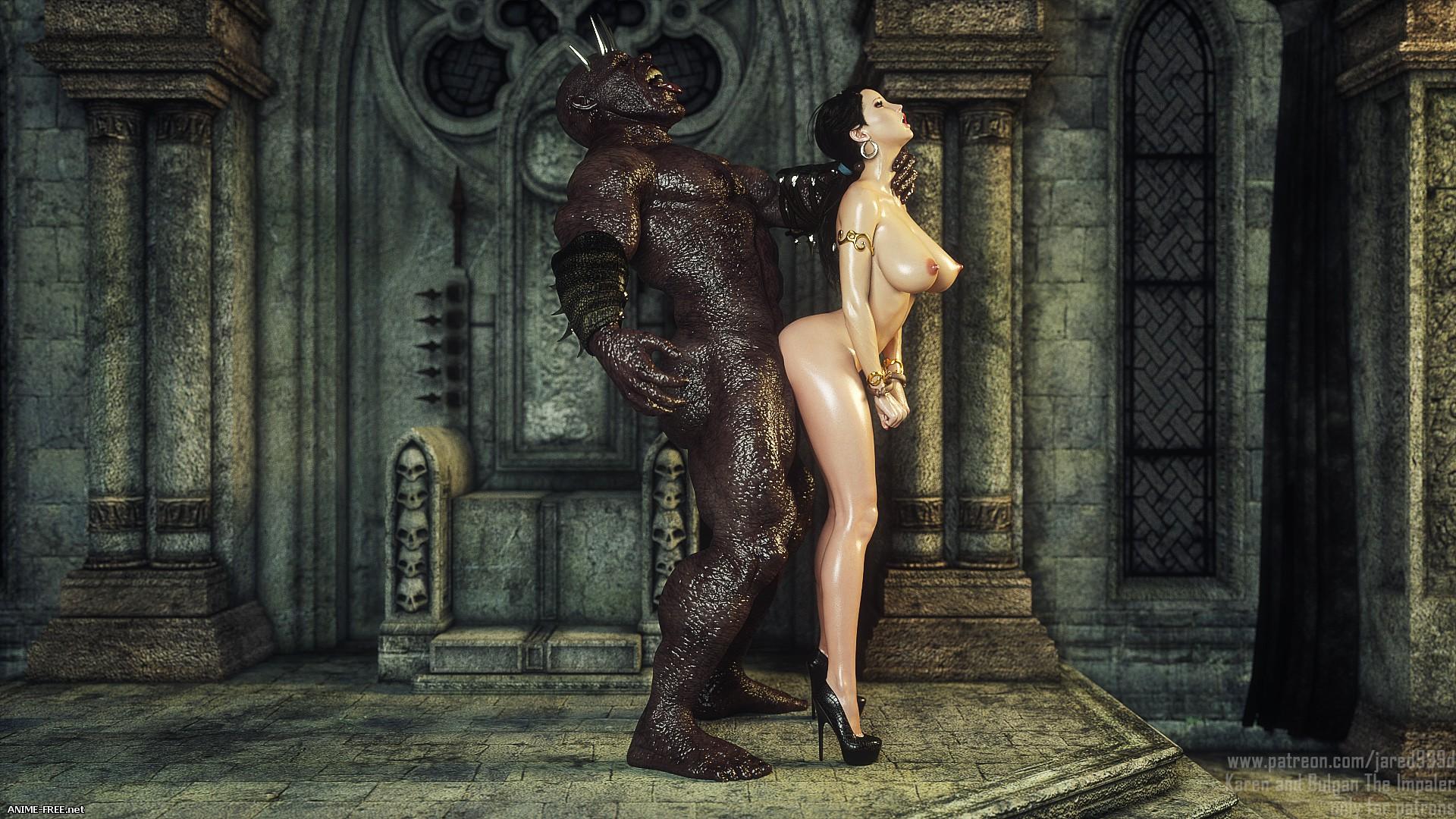 Karen and Bulgan the Impaler [Uncen] [3DCG] [ENG] Porn Comics