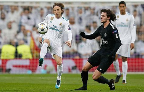 """""""Мадрид"""" преодолел наибольшее количество метров в сезоне в игре с """"ПСЖ"""""""