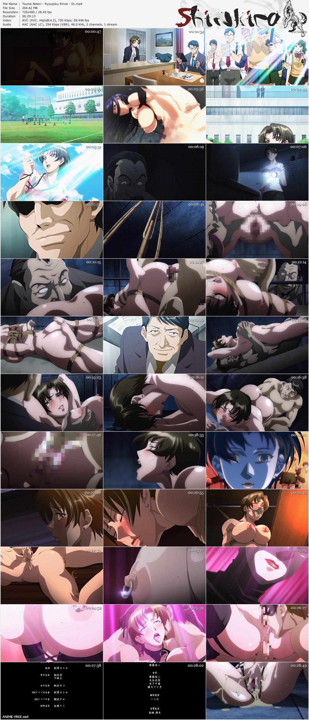 Tsuma Netori: Ryoujoku Rinne / Zoku Tsuma Netori: Ikumi to Shizuka [Ep.1-2] [JAP,ENG,RUS] Anime Hentai