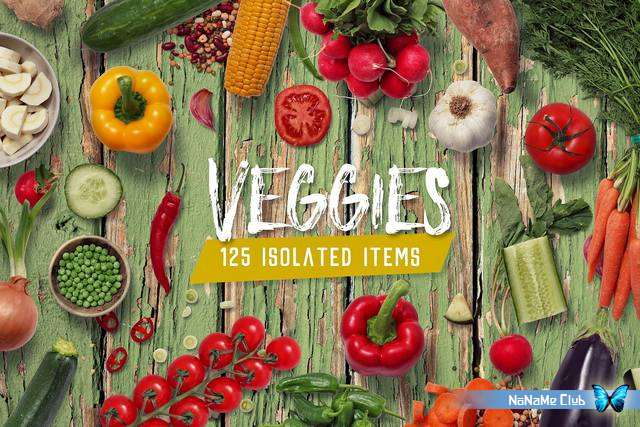 Растровый клипарт - Creative Market - Veggies - Isolated Food Items - 2322425 [PSD, PNG]