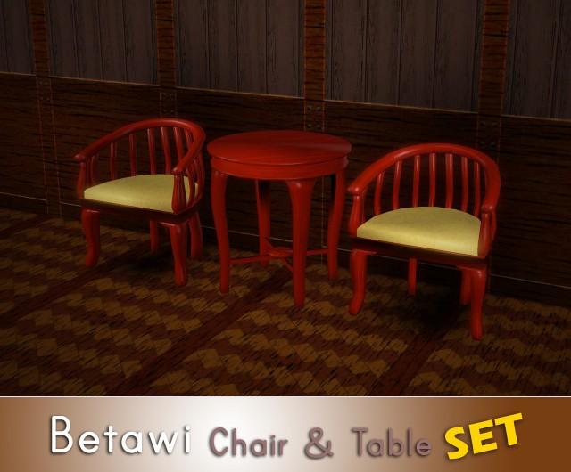 Betawi Chair & Table SET by thebleedingwoodland