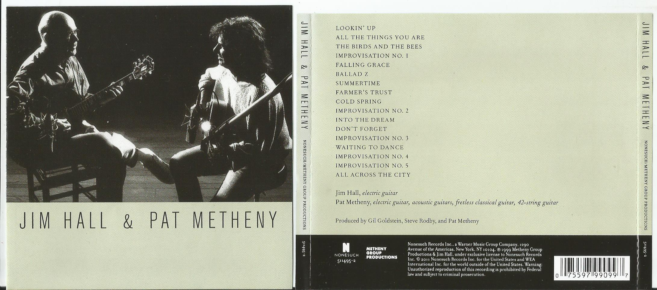 HALL, JIM & PAT METHENY - Jim Hall & Pat Metheny