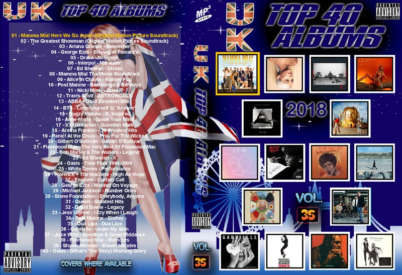The Official UK Top 40 Albums Chart Week 35 2018 (MP3)