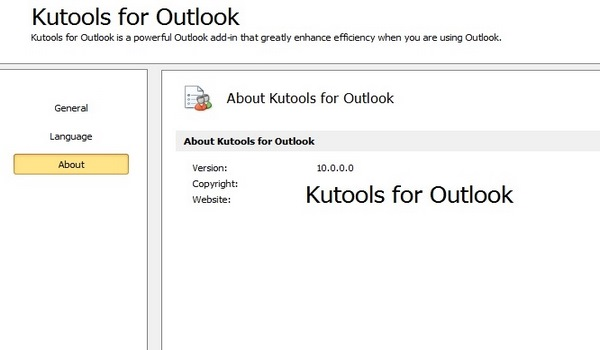 Kutools for Outlook 10.0.0.0