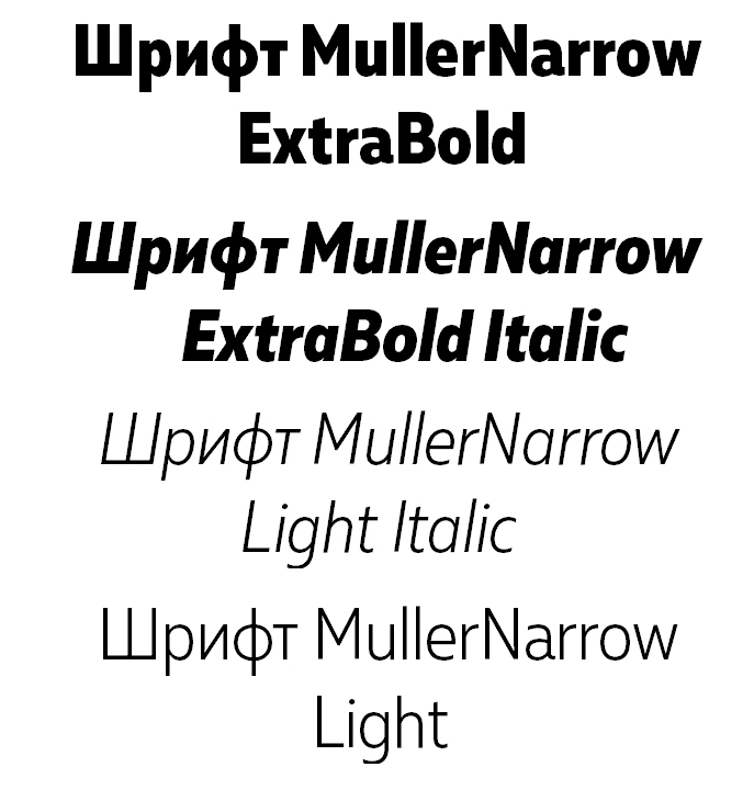 Шрифт Muller Narrow