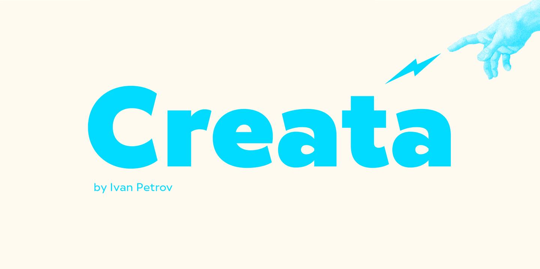 Шрифт Creata