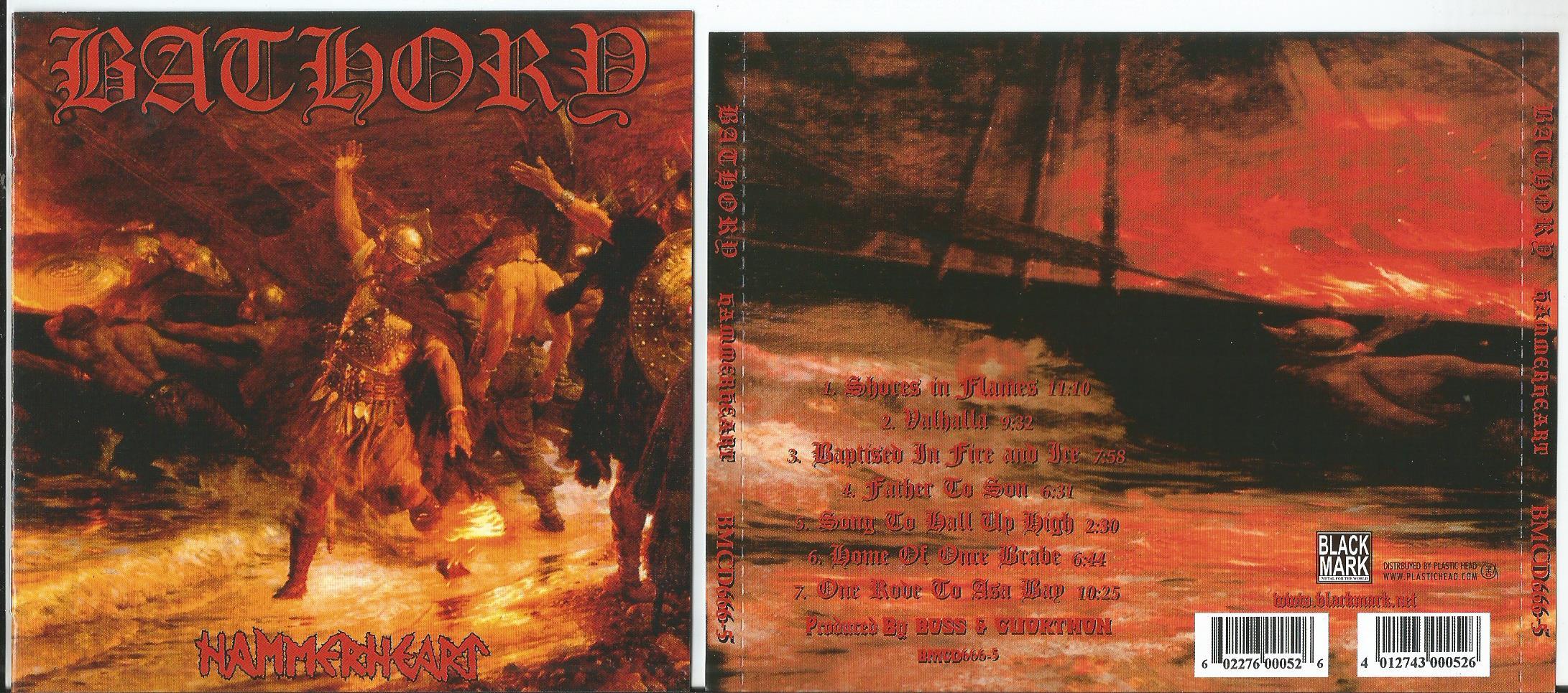 bathory hammerheart (8page booklet with lyrics)