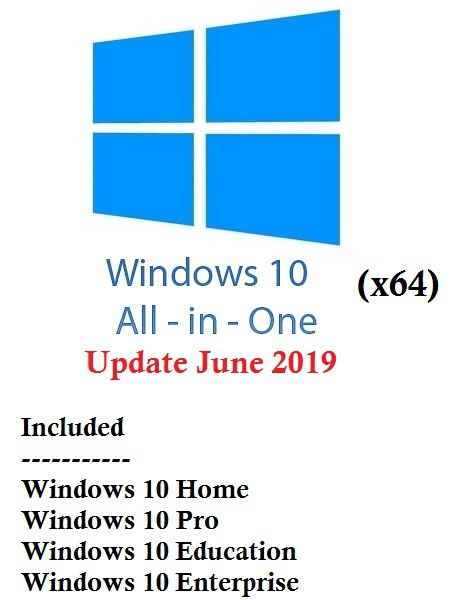 Windows 10 19H1 AIO (4-in-1) ESD (x64) June 2019