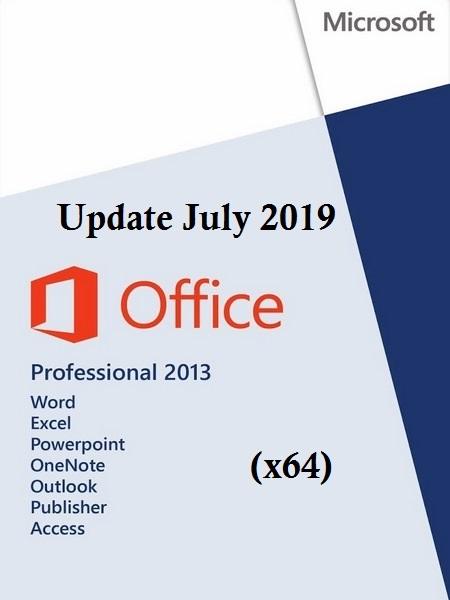 Release] - Office 2013 Pro Plus SP1 VL Multi-22 (x64) July 2019