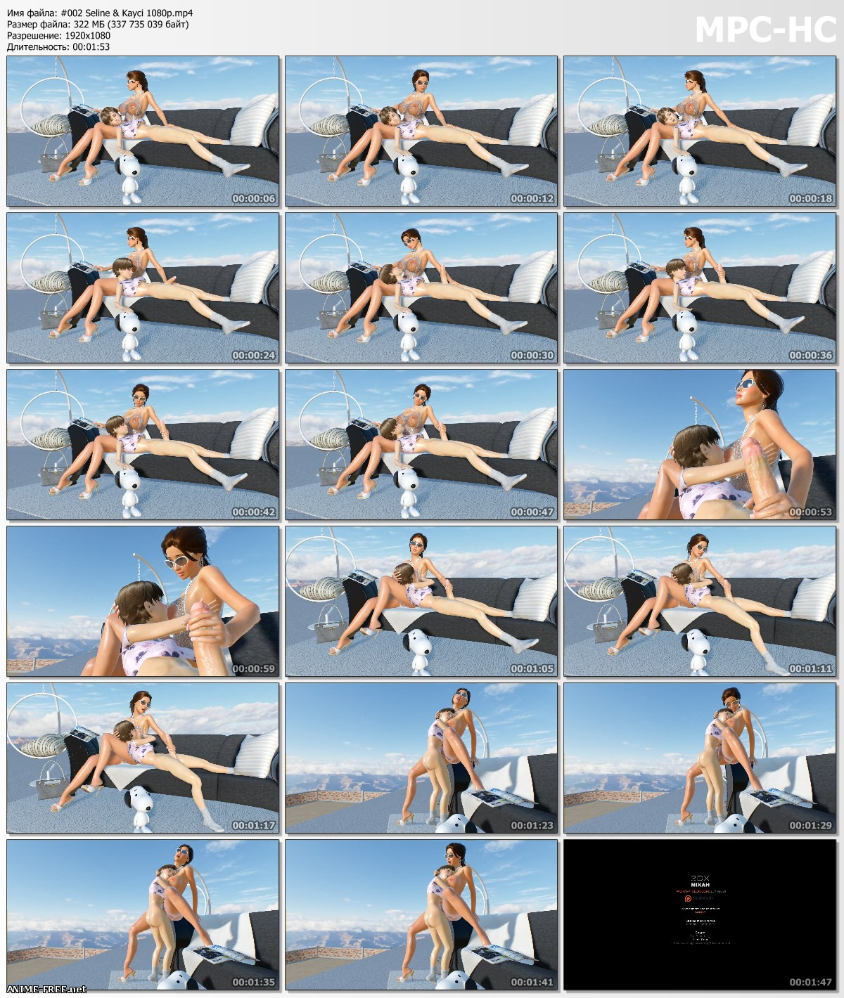 3DXNIXAH / 3DX NIXAH (Works Collection) [2017-2019] [Uncen] [HD-1080p / HD-720p] [ENG] 3D-Hentai