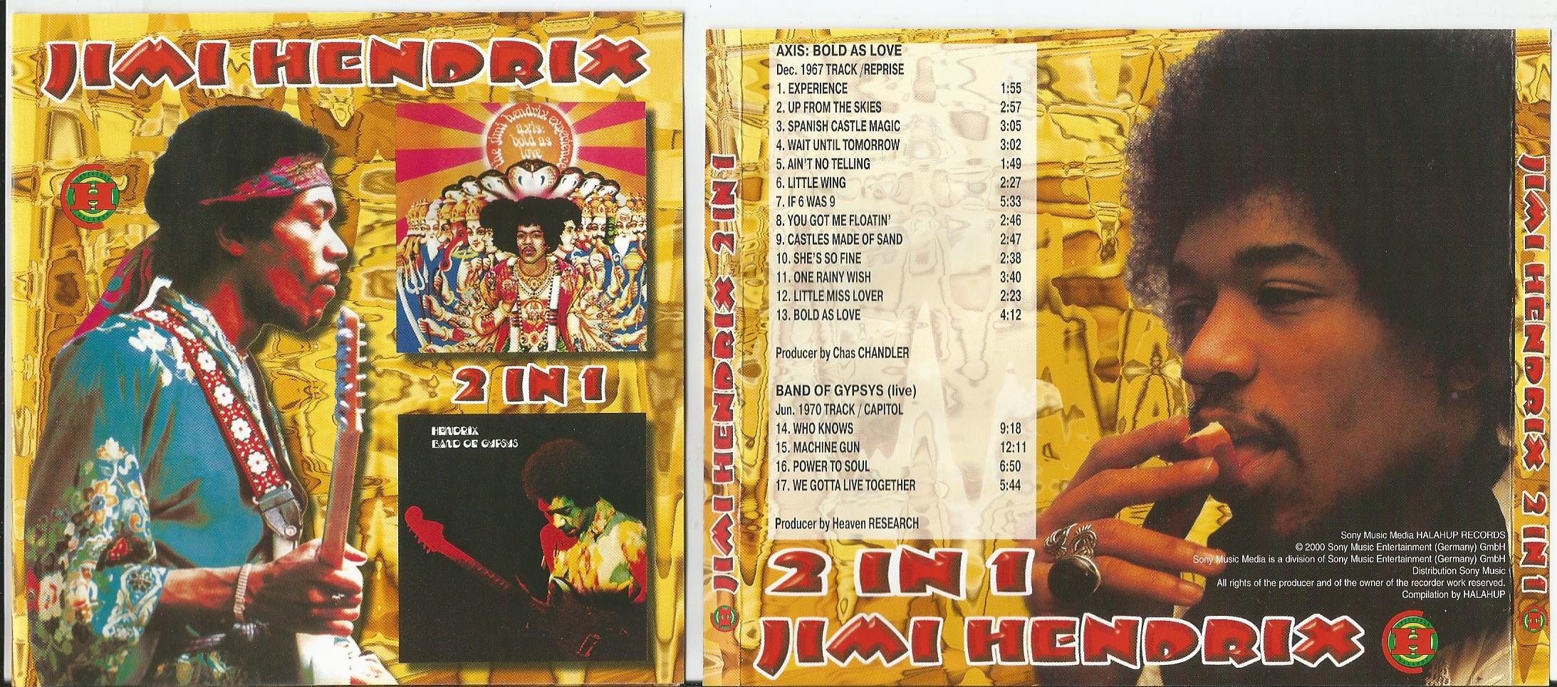 HENDRIX, JIMI Axis: Bold As Love + 4live trk (from Band Of Gypsys)(picture disc)