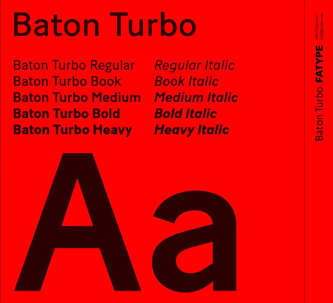 Шрифт Baton Turbo