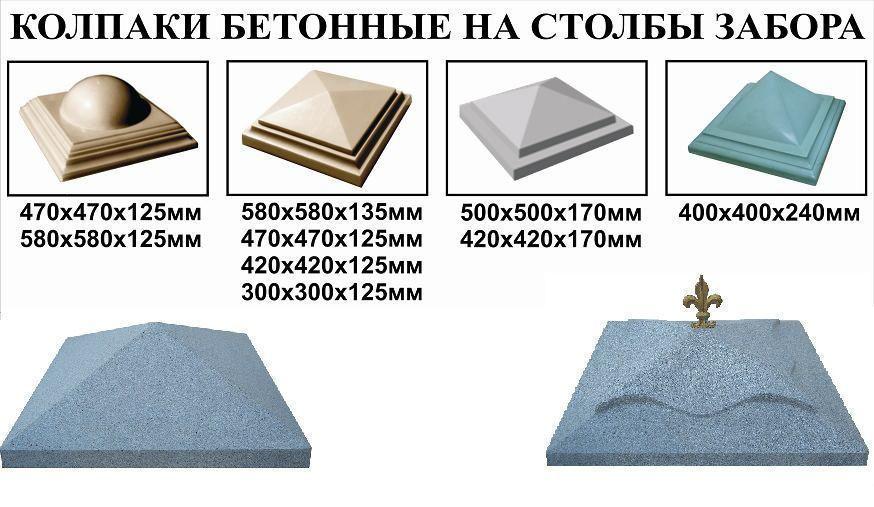 Колпаки из бетона