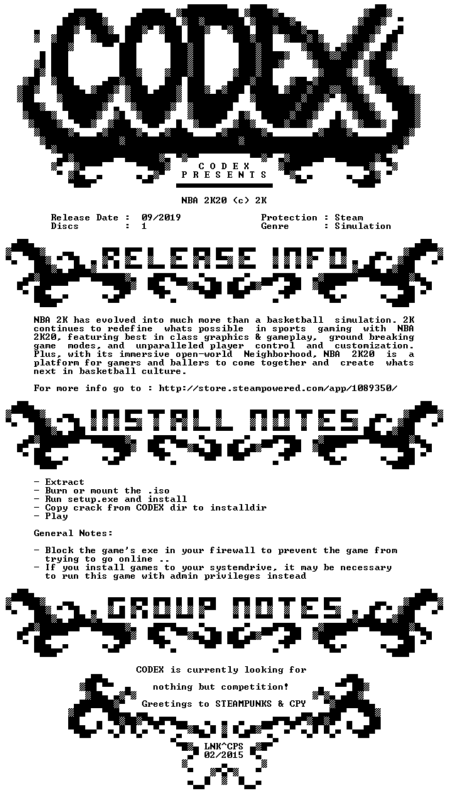 NBA 2K20-CODEX
