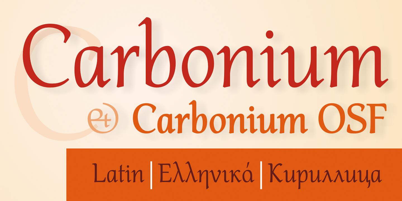 Шрифт Carbonium