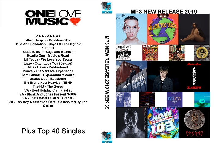MP3 NEW RELEASES 2019 WEEK 39