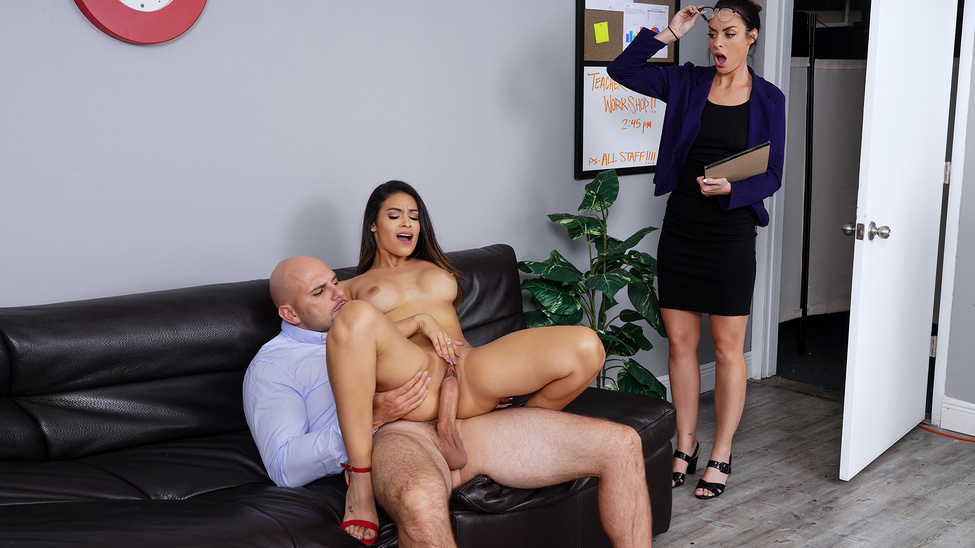 [BigTitsAtSchool.com / Brazzers.com] Katana Kombat - Teachers  Lounge (25.12.2019) [Latina, Big Tits, All Sex]