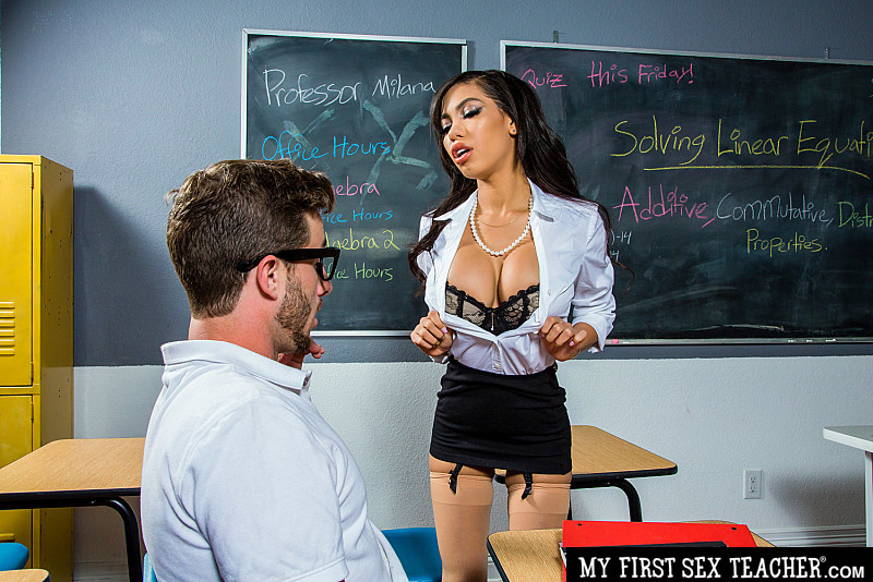 Gia Milana - Gia Milana teaches Lucas how to fuck in class (2020) SiteRip |