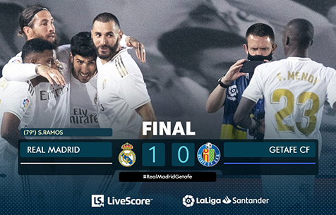 Real Madrid C.F. - Getafe C.F. 1:0