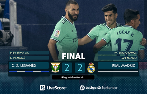 CD Leganes - Real Madrid C.F. 2:2