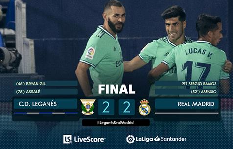 CD Leganes - Real Madrid C.F. 2:2