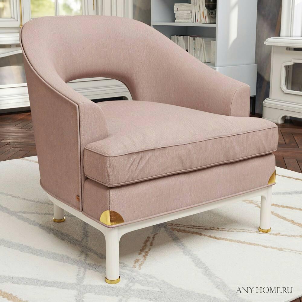 Модель кресла V004 в теплых тонах