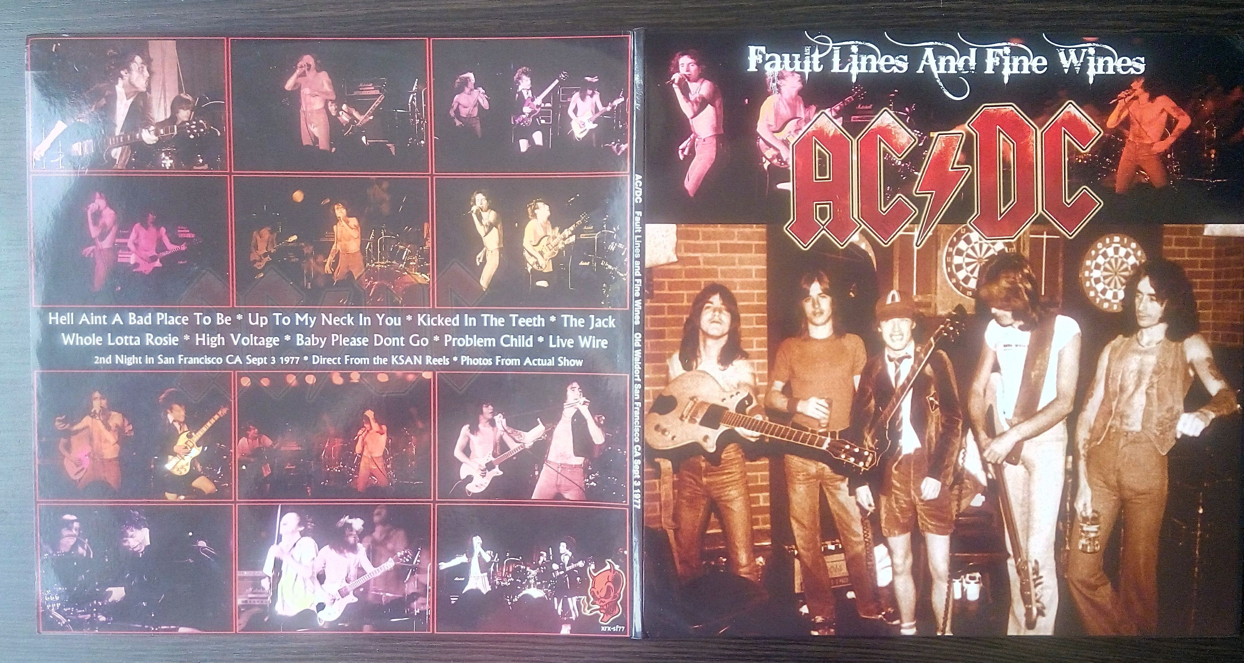 ac/dc fault lines and fine wines - recorded live, 2nd night in san francisco, ca, sept 3rd 1977. direct fr