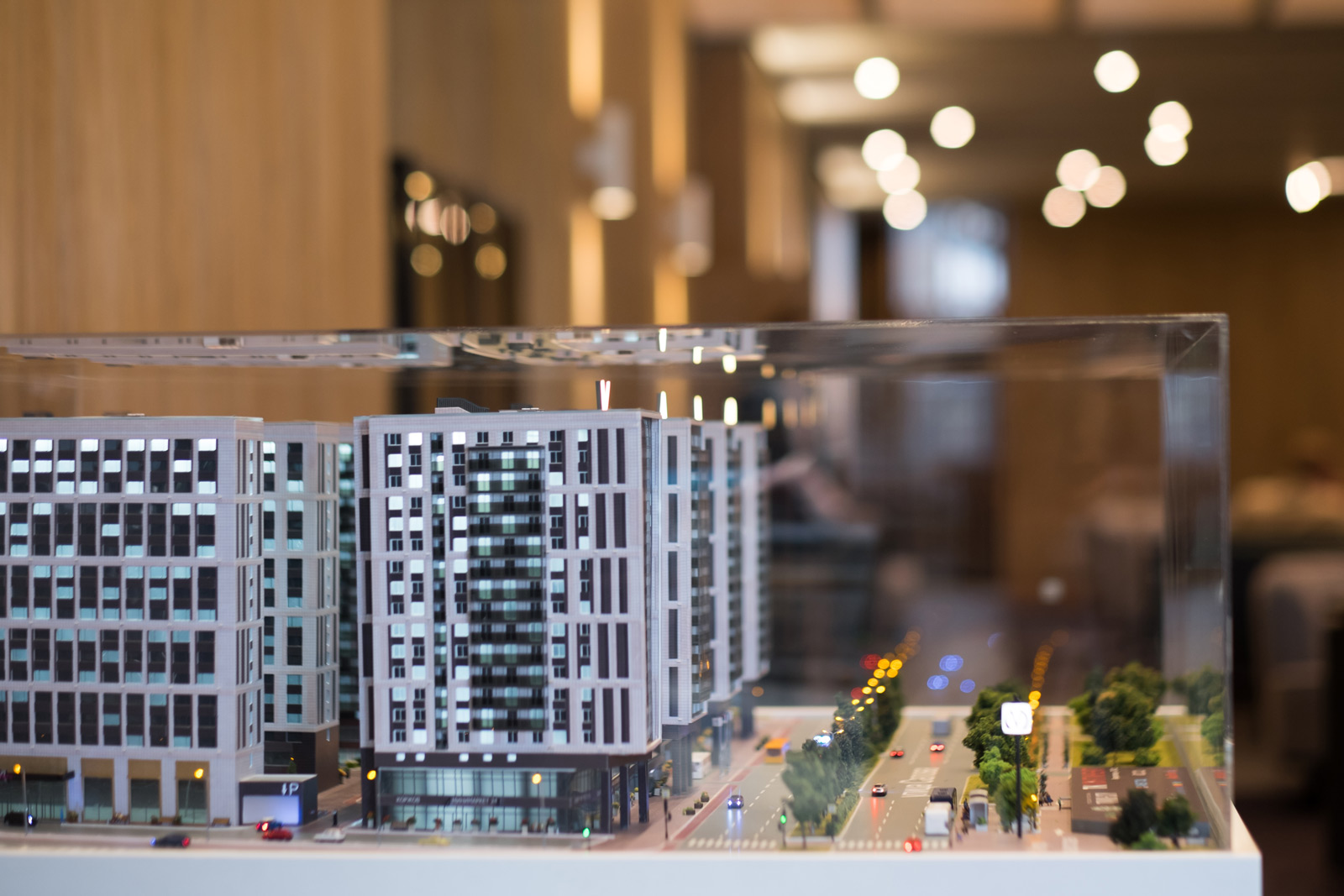 Макет комплекса апартаментов