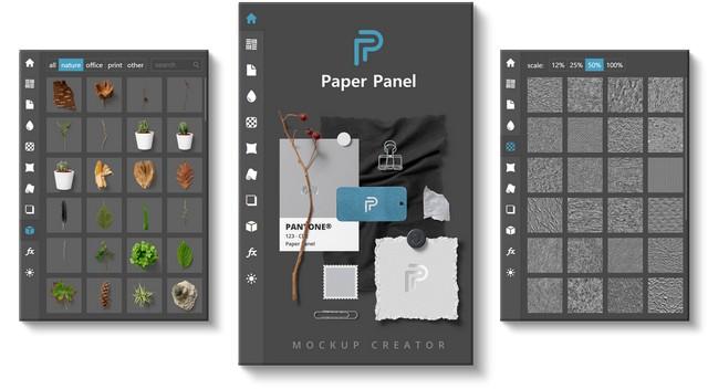 Henke.Design - Paper Panel - Mockup Creator