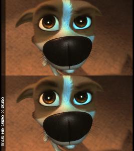 Звёздные собаки: Белка и Стрелка Вертикальная стереопара