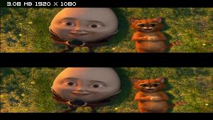 Кот в сапогах в 3Д / Puss in Boots 3D (2011) BDRip 1080p / 5.30 Gb [Half OverUnder / Вертикальная анаморфная стереопара]