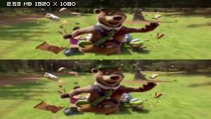 Медведь Йоги в 3Д / Yogi Bear 3D  Вертикальная анаморфная