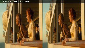Титaник в 3Д / Titаnic 3D (1997, remastered 2012) BDRip 1080p / 17.6 Gb [Half SideBySide / Горизонтальная анаморфная стереопара]