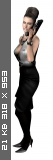 Excella in black white gown 1ad52272c6eff741dc7f742d32244090